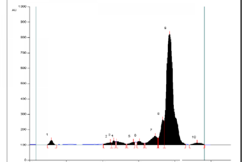 HPTLC chromatogram of kadukkai maathirai